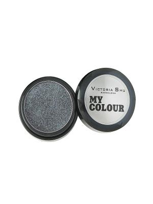 Тени для век My colour, тон №523 Victoria Shu. Цвет: серебристый