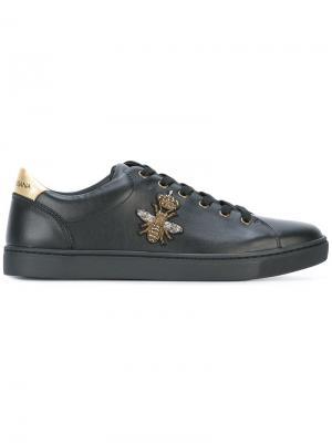 Кеды London Dolce & Gabbana. Цвет: чёрный