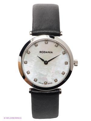 Часы RODANIA. Цвет: серебристый, черный