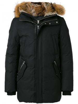 Пальто с капюшоном Mackage. Цвет: чёрный