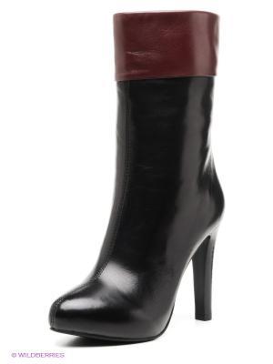 Полусапожки Moda Donna. Цвет: черный