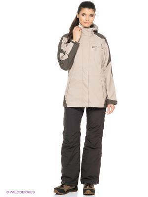 Куртка MELLOW RANGE WOMEN Jack Wolfskin. Цвет: серый