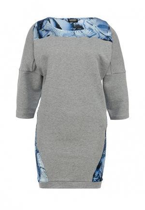 Платье Bikkembergs. Цвет: серый