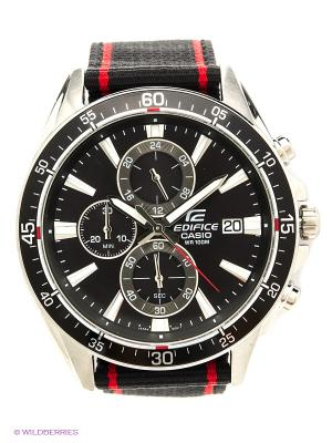 Часы EDIFICE EFR-546C-1A CASIO. Цвет: черный, красный