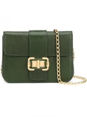 Маленькая сумка на плечо Bianca Monique Lhuillier. Цвет: зелёный