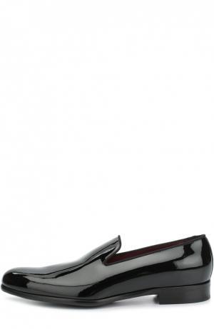 Лаковые лоферы Siena Dolce & Gabbana. Цвет: черный