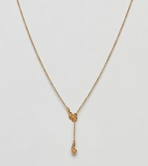 Bill Skinner Y-образное ожерелье. Цвет: золотой