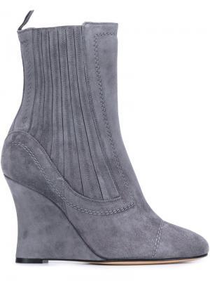 Ботинки по щиколотку на танкетке Alchimia Di Ballin. Цвет: серый