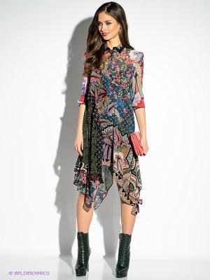 Платье Just Cavalli. Цвет: зеленый, красный, розовый, горчичный, черный, синий