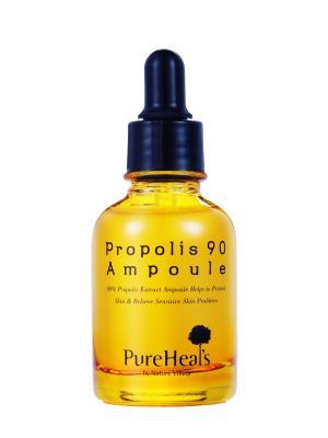 Сыворотка с прополисом PUREHEALS  Propolis 90 Ampoule. Цвет: желтый