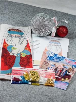 Набор для шитья и вышивания Дед Мороз Матренин Посад. Цвет: красный, голубой