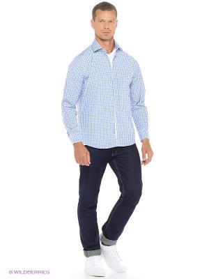 Рубашка Modis. Цвет: голубой, серый