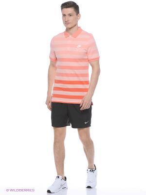 Футболка-поло NIKE GS SLIM POLO-SOLSTICE. Цвет: коралловый, бледно-розовый