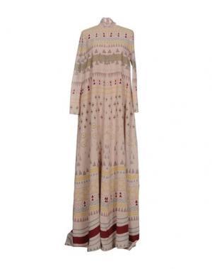 Длинное платье VALENTINO. Цвет: светло-розовый