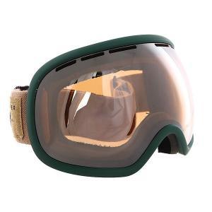 Маска для сноуборда  Fishbowl Sin Hunter Green/Persimmon Chrome Von Zipper. Цвет: зеленый