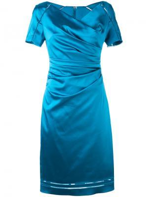 Платье Moira Talbot Runhof. Цвет: синий