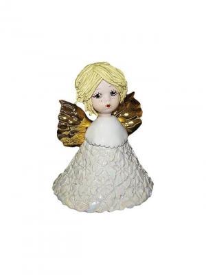 Статуэтка Ангел-колокольчик Zampiva. Цвет: белый, желтый, золотистый