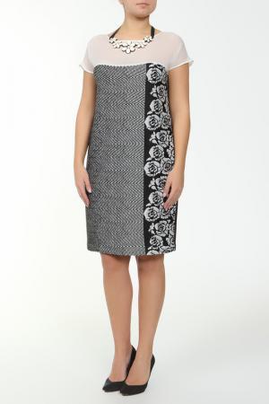 Платье XS MILANO. Цвет: черный, серый