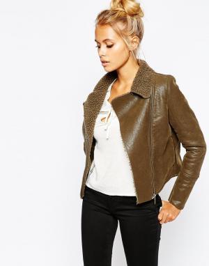 Barney's Originals Короткая куртка с одним карманом Barneys. Цвет: хаки