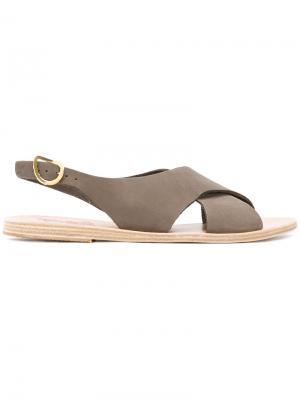 Сандалии Maria Ancient Greek Sandals. Цвет: зелёный