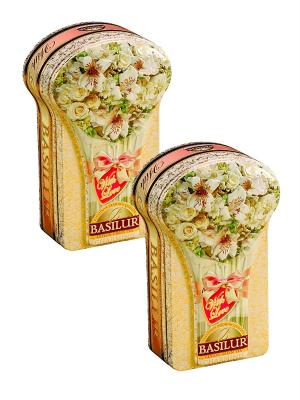 Набор Чай Basilur Цветочная коллекция Чарующий/Charming. Цвет: зеленый