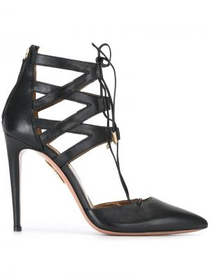 Туфли-лодочки Belgravia Aquazzura. Цвет: чёрный