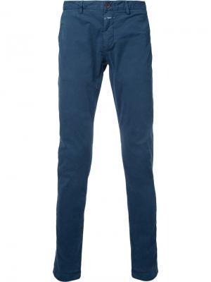Однотонные брюки-чинос Closed. Цвет: синий