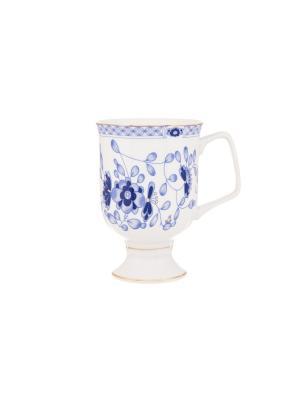 Кружка для капучино и кофе латте Шарм Elan Gallery. Цвет: синий, белый