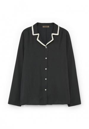 Рубашка домашняя Mango. Цвет: черный