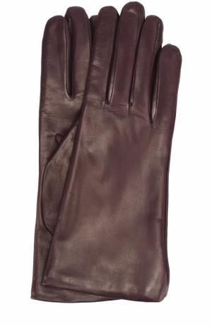 Кожаные перчатки Sermoneta Gloves. Цвет: фиолетовый