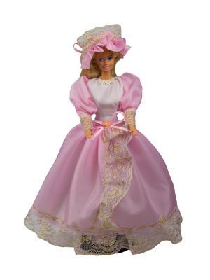 Бальное платье  из шелка со шляпкой для куклы 29 см Модница.. Цвет: розовый