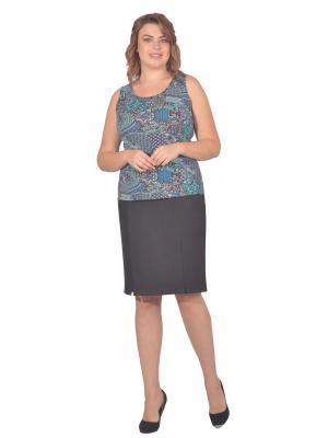 Топ Томилочка Мода ТМ. Цвет: бирюзовый, коричневый
