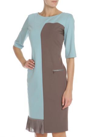 Платье с карманом на молнии Evita. Цвет: tile, серо-голубой