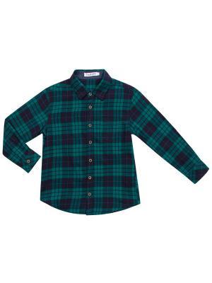 Рубашка 7 одежек. Цвет: темно-синий, зеленый
