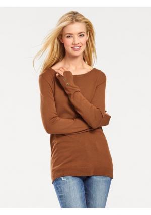 Пуловер B.C. BEST CONNECTIONS by Heine. Цвет: коньячный