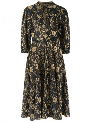 Floral knit midi dress Gig. Цвет: none