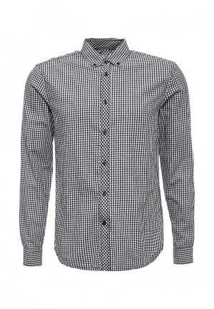Рубашка Forex. Цвет: черно-белый