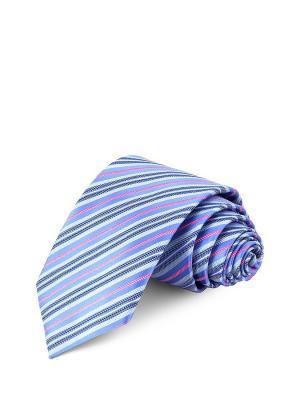 Галстук CASINO. Цвет: лазурный, голубой, розовый