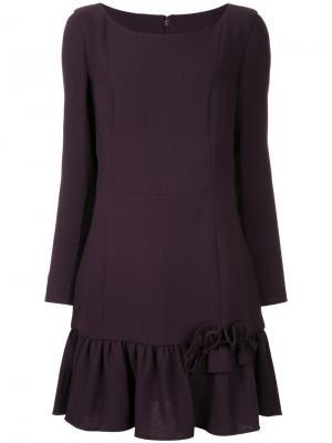 Короткое платье со складками Ingie Paris. Цвет: розовый и фиолетовый