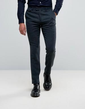 Harry Brown Узкие строгие брюки из 40% шерсти. Цвет: синий