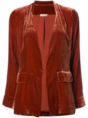 Пиджак кроя слим Ulla Johnson. Цвет: жёлтый и оранжевый