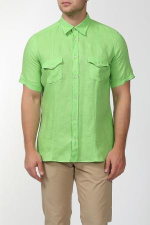 Рубашка с короткими рукавами Smalto. Цвет: зеленый