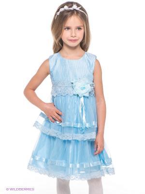 Платье Baby Steen. Цвет: голубой