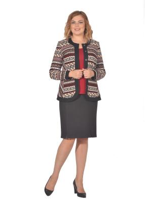 Жакет Томилочка Мода ТМ. Цвет: черный, бежевый, бордовый