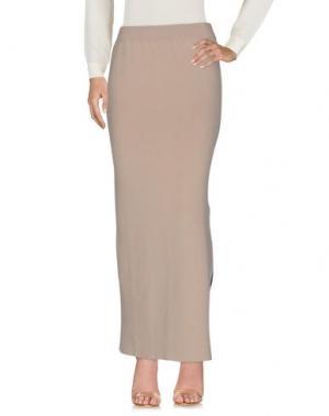 Длинная юбка BRUNO MANETTI. Цвет: бежевый