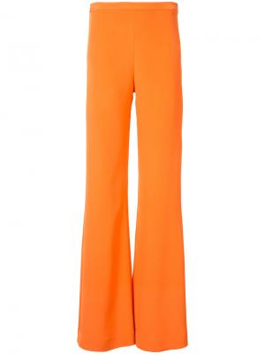 Брюки-палаццо Christian Siriano. Цвет: жёлтый и оранжевый