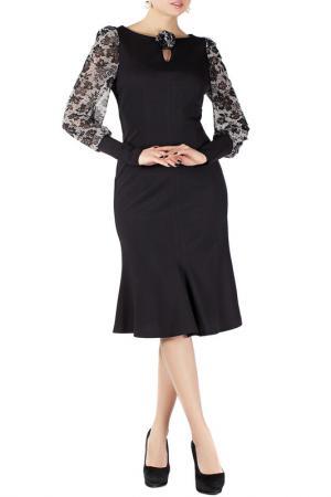 Платье Mannon. Цвет: черно-серый