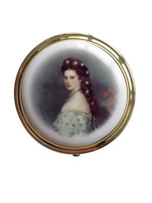 Декоративная шкатулка круглая Принцесса СиСи. Reutter Porzellan. Цвет: черный, голубой, белый