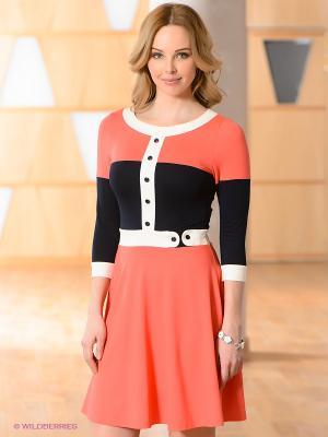 Платье V&V. Цвет: коралловый