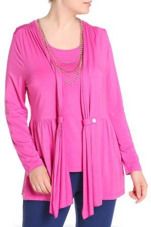 Комплект: кардиган, блуза LAVELLE. Цвет: розовый